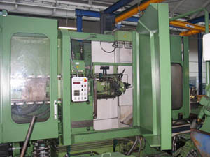 Used horizontal machining centre front view