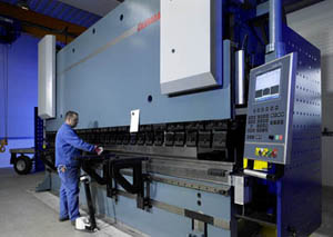 Used press brake workplace