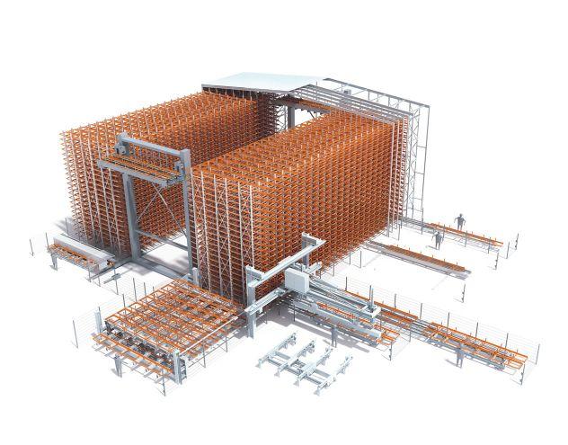 Sistema di immagazzinamento KASTO Unicompact vista 3D