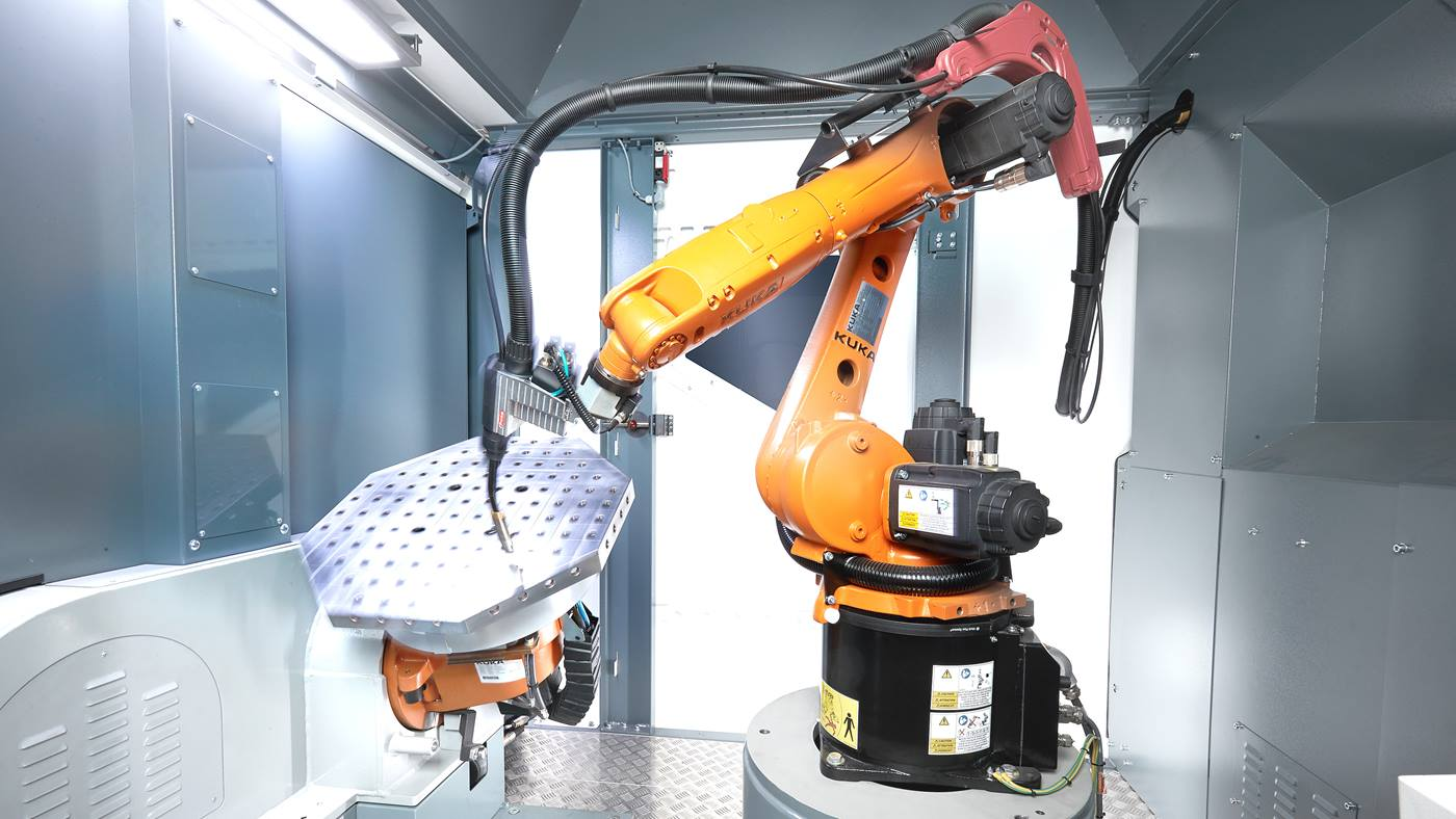Installation de production KUKA flexibleCUBE-arc