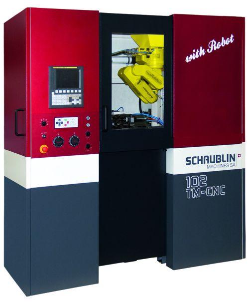 SCHAUBLIN Tour CNC avec robot